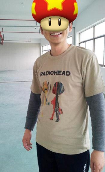 Radiohead 卡其色T恤