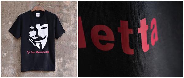 《V字仇杀队》黑色、浅色T恤