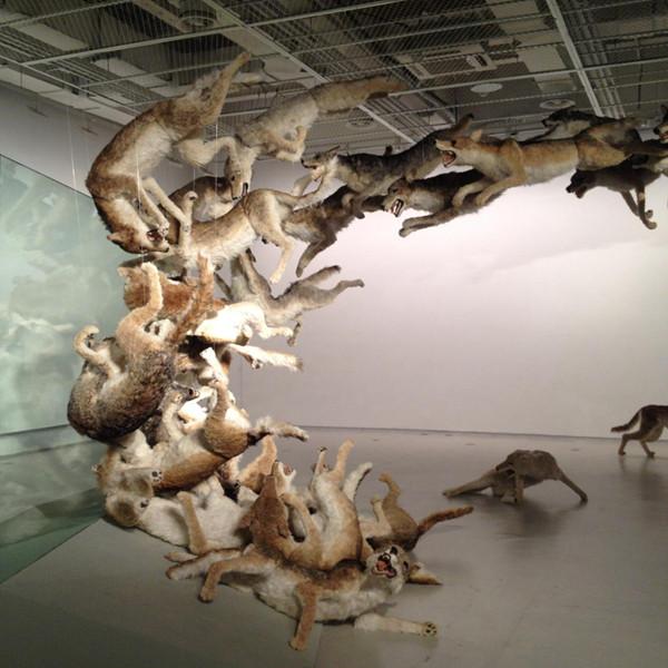 蔡国强上海《九级浪》个人艺术展