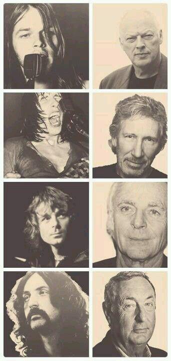 Pink Floyd成员年轻时与现在的照片