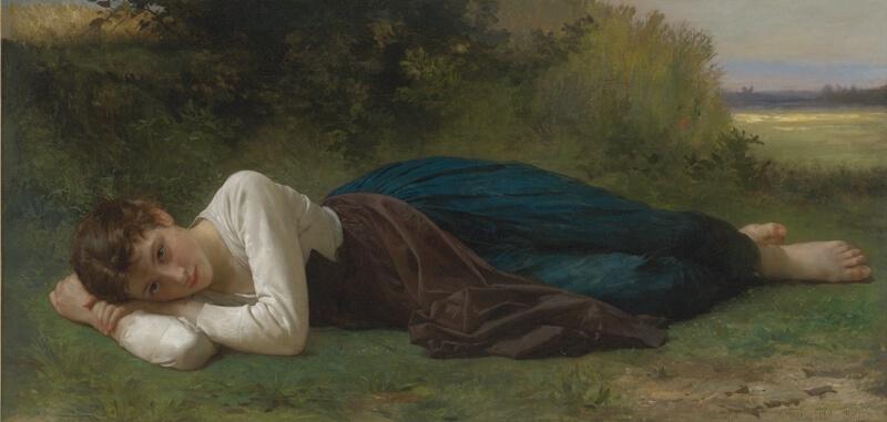William Bouguereau《Le Repos》