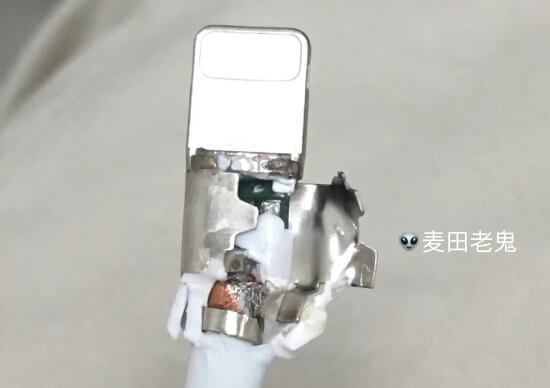 iPhone原装数据线拆解