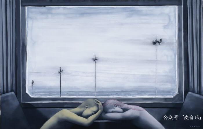 车窗-停电日©️張晓刚,2010