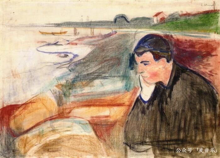 Evening. Melancholy©️Edvard Munch,1891