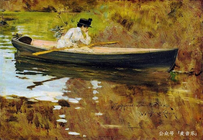 Mrs. Chase in Prospect Park©️William Merritt Chase