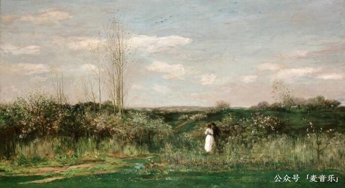 Spring Landscape©️夏尔-弗朗索瓦·多比尼,1862