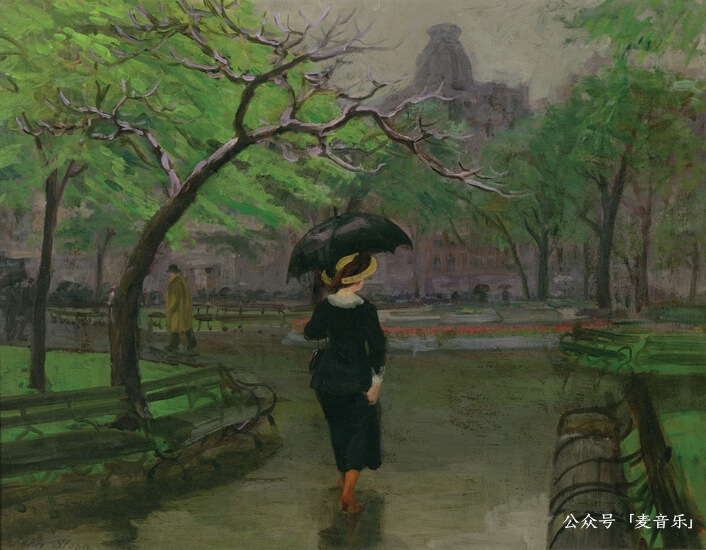 Spring Rain, New York©️John French Sloan