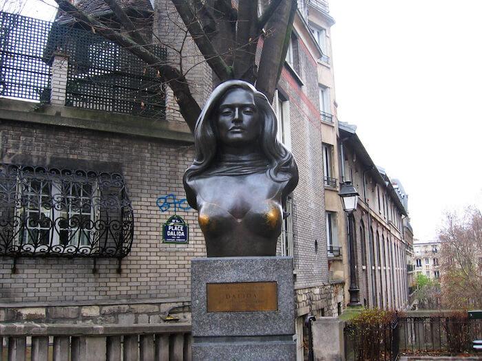 Dalida bust at Place Dalida, Montmartre
