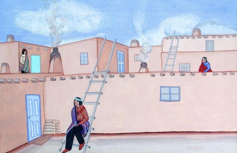 Men at Pueblo | Pablita Velarde