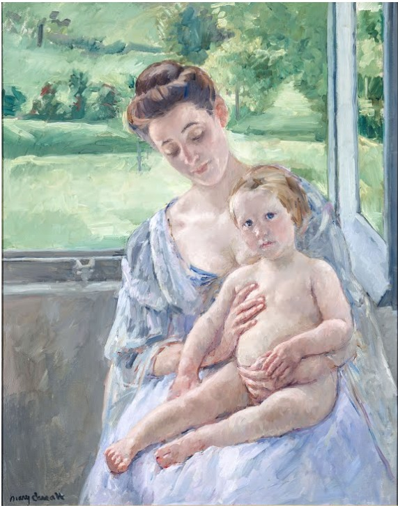 Mother and Child in the Conservatory©️Mary Cassatt
