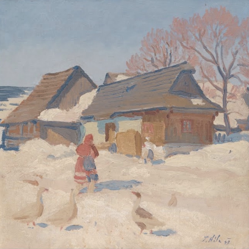 Winter with geese | Ján Hála
