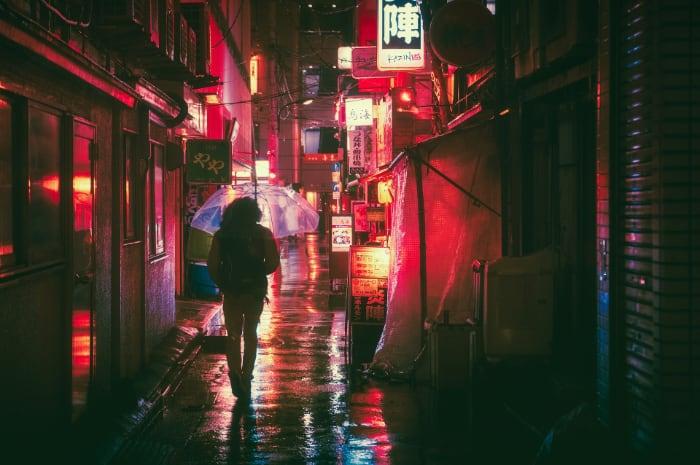 日本大阪的夜