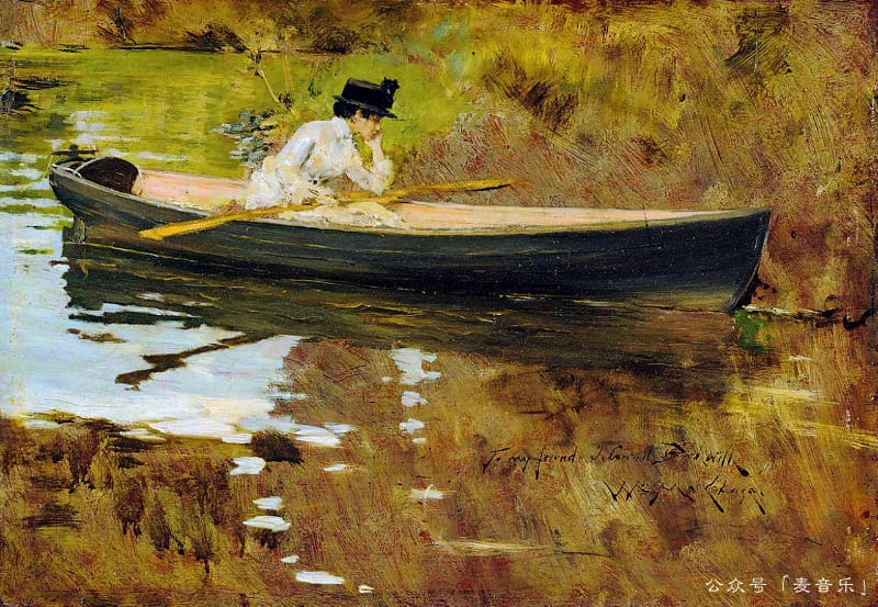 Mrs. Chase in Prospect Park | William Merritt Chase