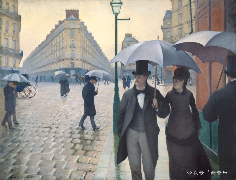 Paris, a Rainy Day | Gustave Caillebotte