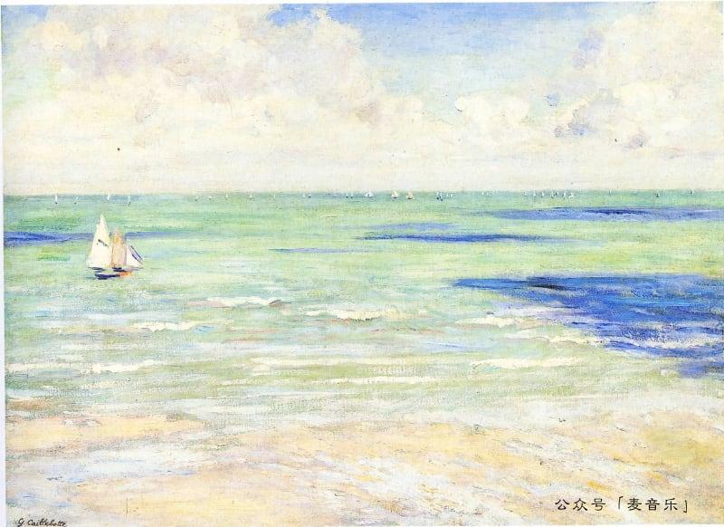 Seascape, Regatta at Villers | Gustave Caillebotte