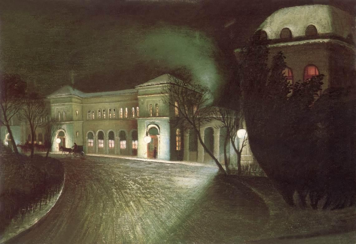 The Eastern Railway Station at Night | Tivadar Kosztka Csontvary
