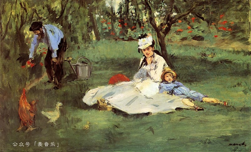 The Monet family in their garden at Argenteuil | Edouard Manet