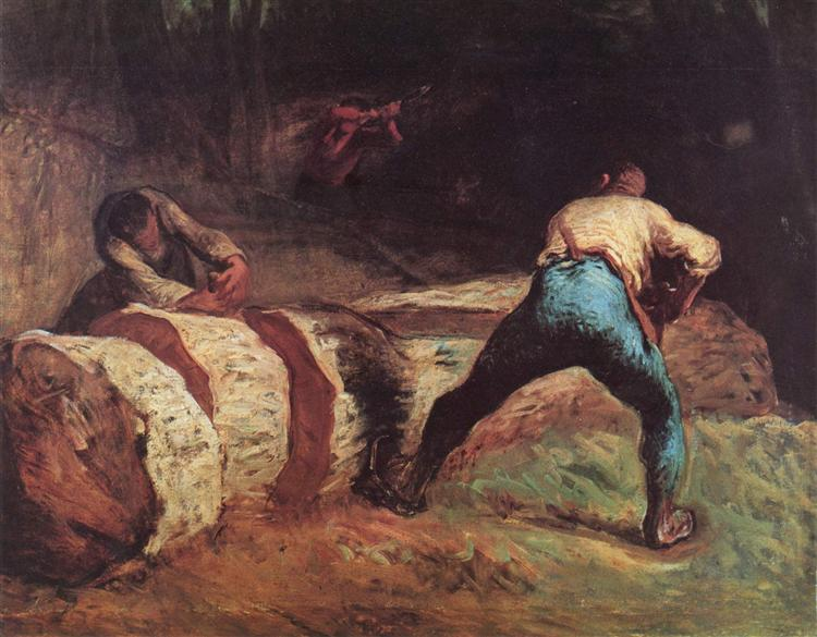 The Wood Sawyers | Jean-Francois Millet
