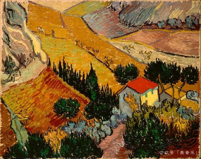 Landscape with House and Ploughman©️Vincent van Gogh