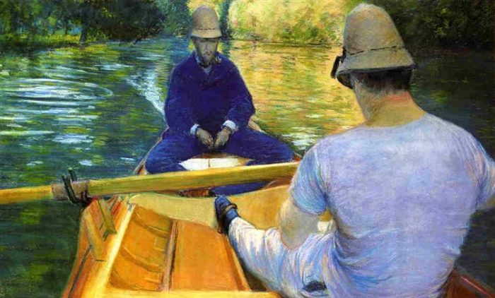 Boats on the Yerres©️Gustave Caillebotte