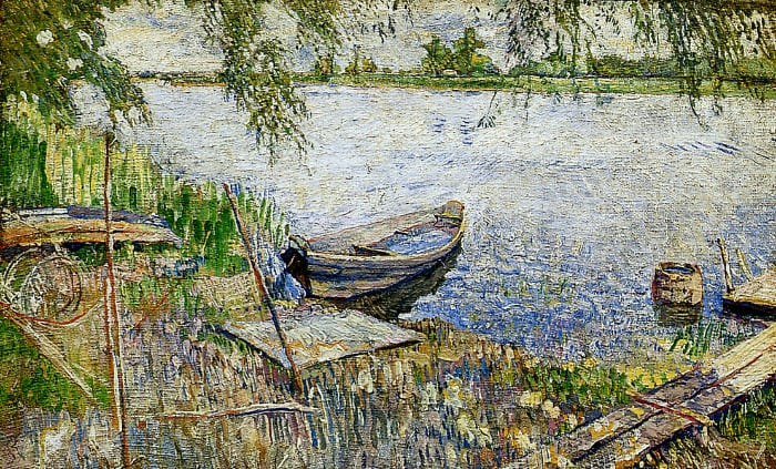 Boat at a shore Sun©️David Burliuk