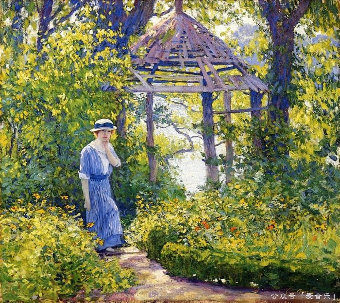 Girl in a Wickford Garden, New England © Guy Rose