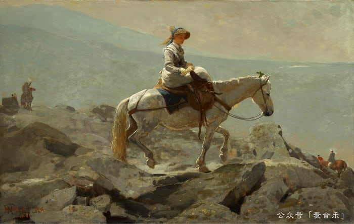 The Bridle Path, White Mountains©Winslow Homer