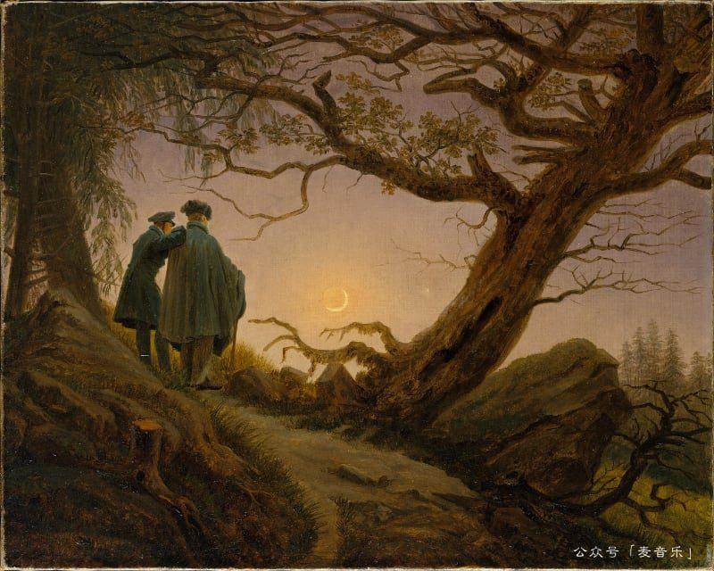 Two Men Contemplating the Moon©Caspar David Friedrich