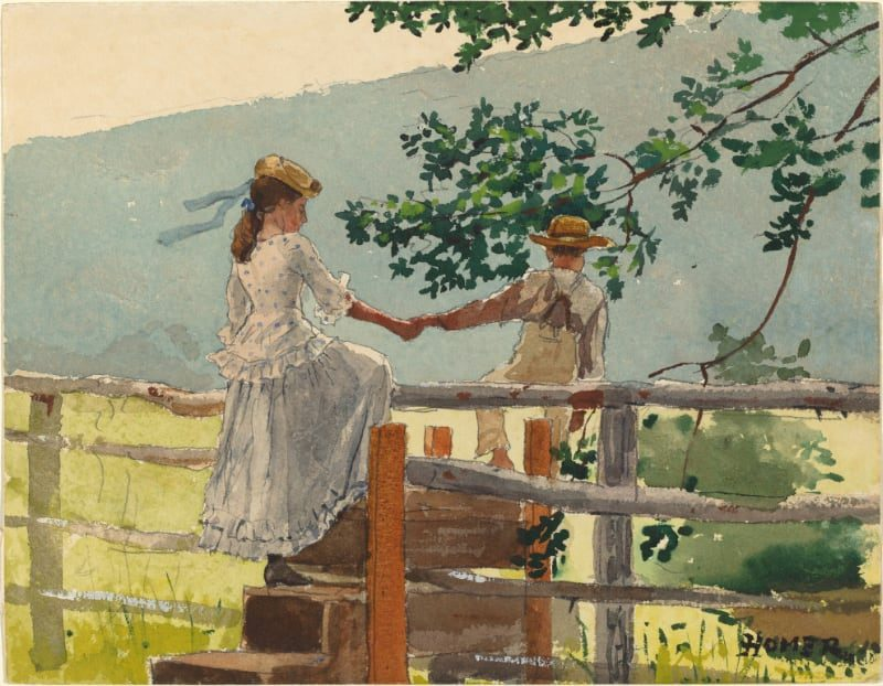 On the Stile©️Winslow Homer