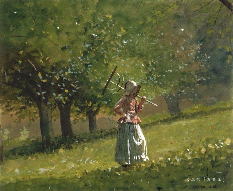 Girl with Hay Rake©Winslow Homer
