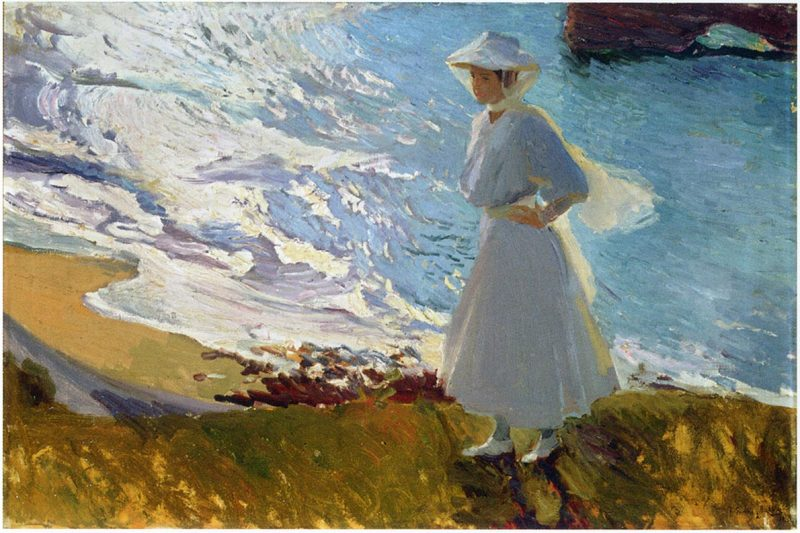 Maria at the Beach©Biarritz Joaquín Sorolla