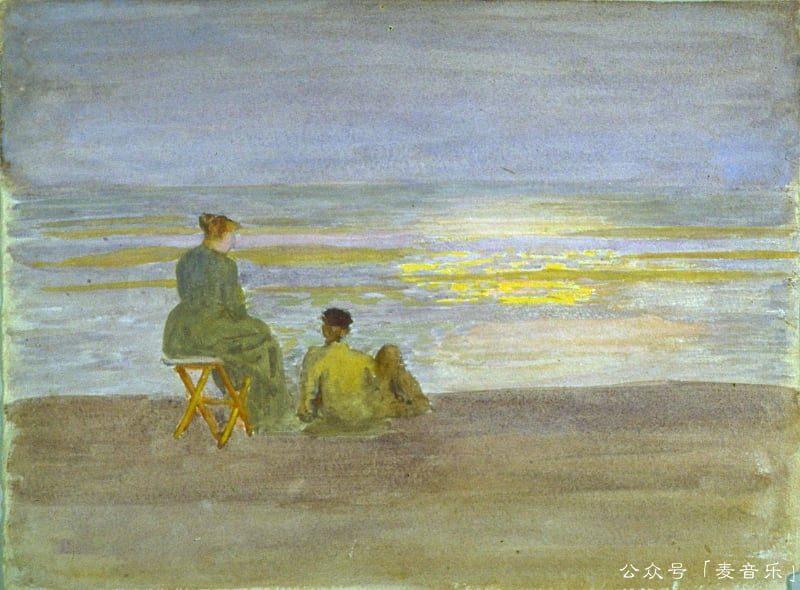 Man and Woman on the Beach, Thomas Pollock Anshutz
