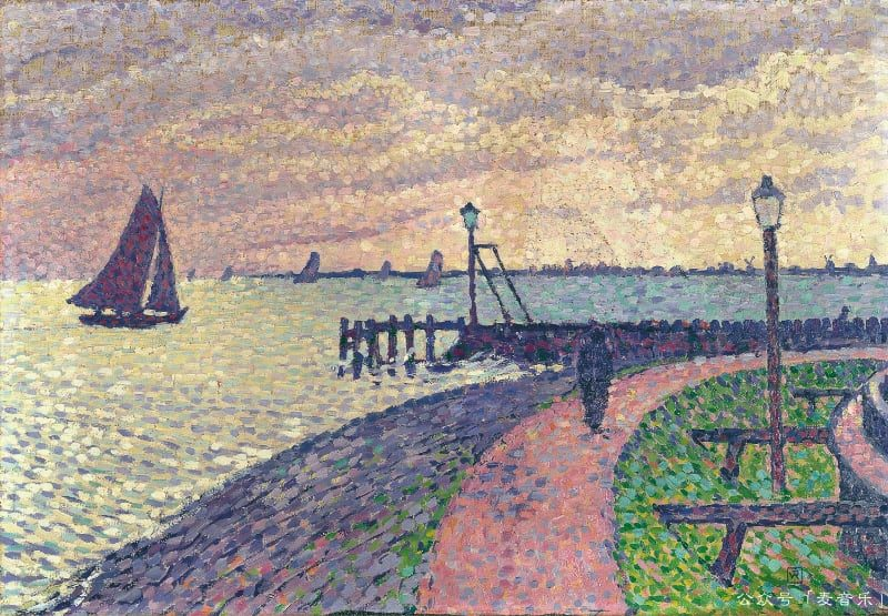 Port Entrance at Volendam, Theo van Rysselberghe