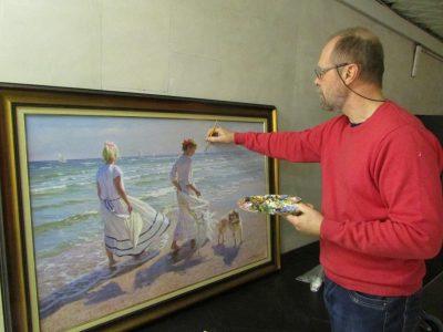【音画】俄罗斯水彩画家Alexander Averin作品,阳光下的少女和儿童