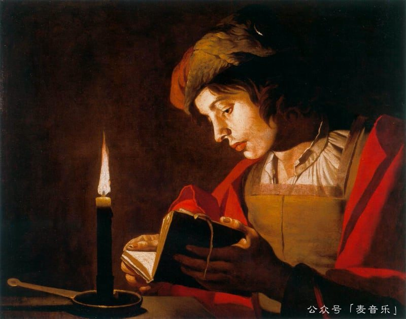 Young Man Reading by Candlelight, Matthias Stom