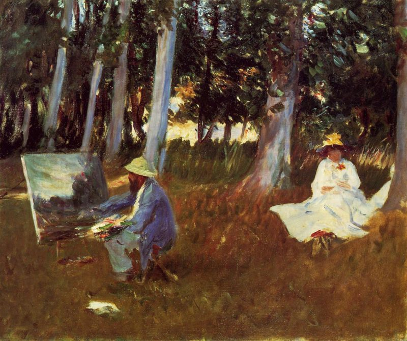 Claude Monet Painting by the Edge of a Wood | John Singer Sargent