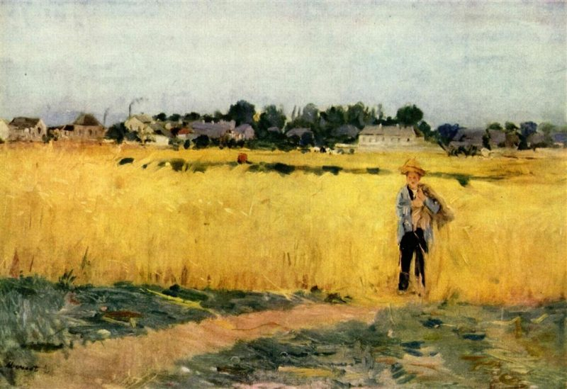 In the Wheatfield at Gennevilliers | Berthe Morisot