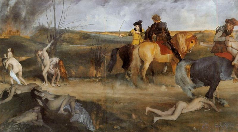 Scene of War in the Middle Ages | Edgar Degas