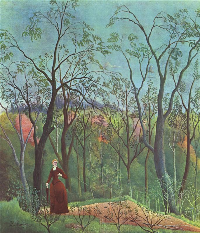 The Walk in the Forest | Henri Rousseau