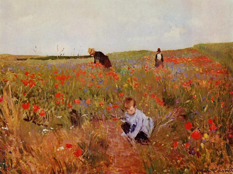 Red poppies | Mary Cassatt