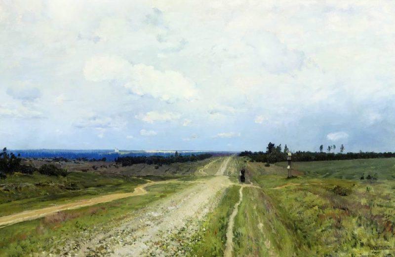 The Vladimir's road | Isaac Levitan