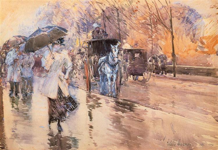 Rainy Day on Fifth Avenue   施尔德·哈森