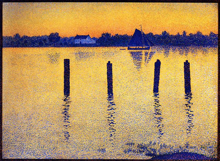 Sailboats on the River Scheldt | Theo van Rysselberghe