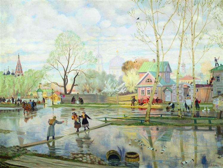Spring, 1921 - Boris Kustodiev