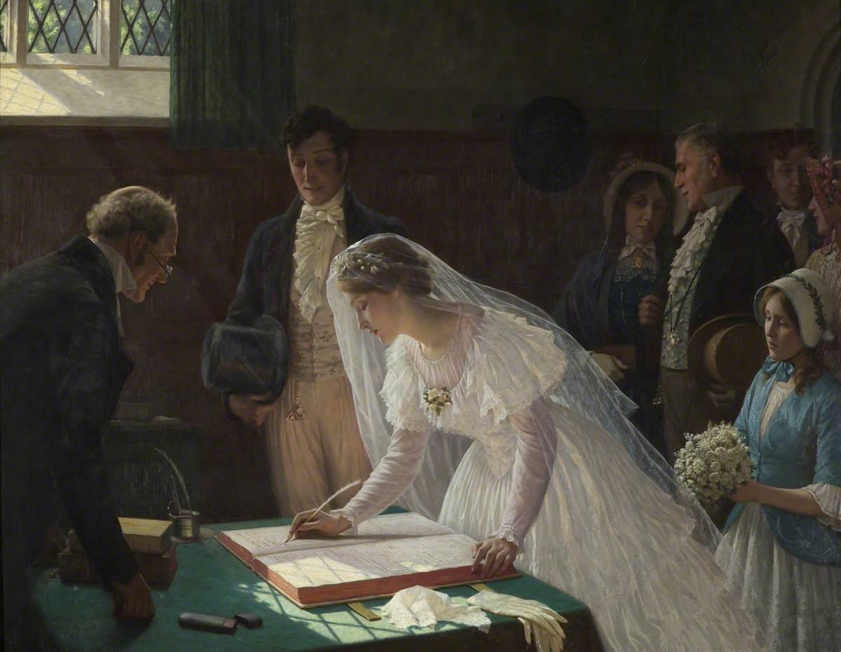 The Wedding Register, 1920 - Edmund Blair Leighton