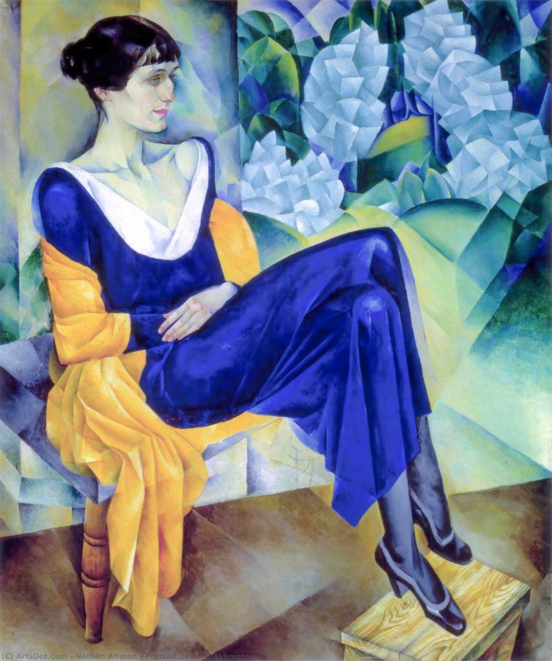 安娜·阿赫玛托娃的肖像 - Nathan Altman