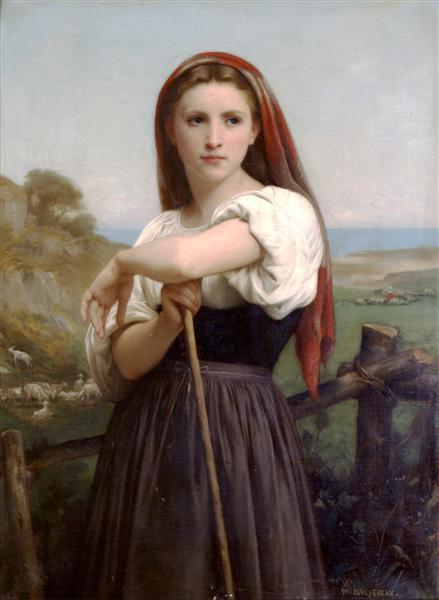 年轻的牧羊女   布格罗