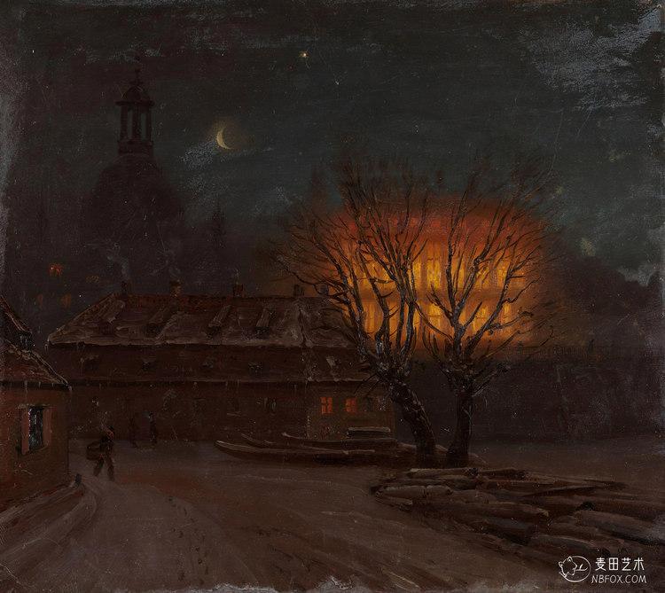 Winter Evening in Dresden | Knud Baade